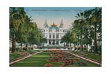 Monte-Carlo. The Gardens and the Casino. Postcard Sent in 1913 Giclee Print by French Photographer