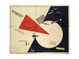 Beat the Whites with the Red Wedge (The Red Wedge Poster), 1919 Giclée-trykk av El Lissitzky