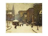 Park Street Church in Snow, 1913 Giclee Print by Arthur Clifton Goodwin