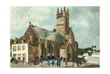 Church and Market, Brittany, 1930 Giclee Print by Christopher Wood