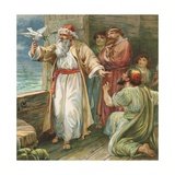 Noah and the Dove Giclee Print by Ambrose Dudley