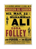 Poster Advertising the Fight Between Muhammad Ali and Zora Folley, Madison Square Garden, 22nd… Giclée-tryk af American School