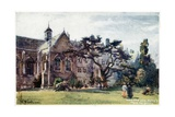 Wadham College from the Garden Giclee Print by William Matthison