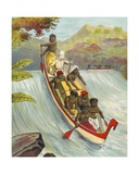 Braving the Rapids Giclee Print by  French School
