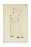 Woman in Evening Dress, 1912 Giclee Print by Charles Demuth
