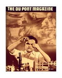 Young Boy with Chemistry Set, Front Cover of the 'Dupont Magazine', October 1937 Giclee Print by  American School