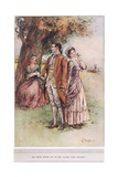 'Bid Both Stand Up to See Which Was Tallest', Illustration from 'The Vicar  Giclee Print by Margaret Jameson