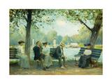 In the Public Gardens, Boston, 1904 Giclee Print by Arthur Clifton Goodwin