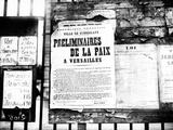 Poster Announcing the Preliminary Talks of the Peace Conference Which Led to the Treaty of… Photographic Print by Jacques Moreau