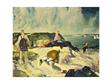 The Beach, Newport, c.1919 Giclee Print by George Wesley Bellows