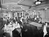 The Dining Salon on a Deck, RMS Lusitania, 1907 Photographic Print by  English Photographer