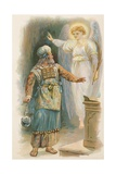 Zacharius and the Angel Giclee Print by Ambrose Dudley