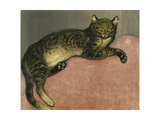 The Summer, Cat on a Railing; L'Ete, Chat Sur Une Balustrade, 1909 Giclee Print by Théophile Alexandre Steinlen