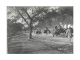 Along the Grand Trunk Road into Delhi, December 1912 Photographic Print by  English Photographer
