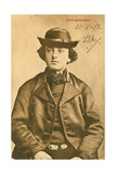 Young Man from Zuid Beverland in the Netherlands. Postcard Sent in 1913 Giclee Print by  Dutch Photographer