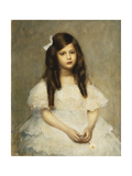 A Portrait of a Girl, Seated Three-Quarter Length, 1906 Giclee Print by Louis Picard