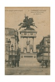 Picturesque Auvergne - Statue of Vercingetorix by Bartholdi in Clermont-Ferrand. Postcard Sent in… Impression giclée par  French Photographer