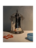 Silver Pot, Coral Necklace and Blue Glass, 2012 Giclee Print by James Gillick