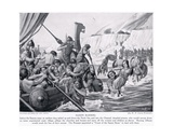 Saxon Raiders, Illustration from 'Hutchinson's History of the Nations', c.1910 Giclee Print by W.P. Caton Woodville