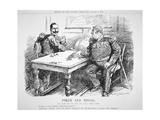 'Poker and Tongs', Punch Cartoon Concerning Naval Rivalry Between Britain a Giclee Print by Leonard Raven-hill