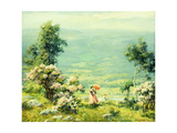 Pink Parasol, 1927 Giclee Print by Charles Courtney Curran
