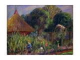 Lenna by a Summer House, c.1917 Giclee Print by William James Glackens