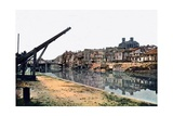 The Meuse and Verdun with Severely Damaged Buildings Along the River, September 1916 Giclee Print by Jules Gervais-Courtellemont