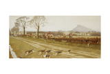 The Cheshire - Away from Tattenhall, 1912 Giclee Print by Cecil Charles Windsor Aldin