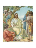 Christ and His Disciples Giclee Print by Ambrose Dudley