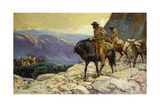 Hunters and Packmules, 1922 Giclee Print by William Henry Dethlef Koerner