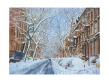 Snow, Remsen St. Brooklyn NY, 2012 Giclee Print by Anthony Butera