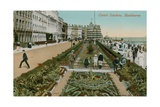 Carpet Gardens, Eastbourne, England. Postcard Sent in 1913 Giclee Print by  French Photographer