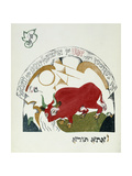 Illustration from Chad Gadya (The Tale of a Goat), 1919 Giclee Print by Eliezer Markowich Lissitzky