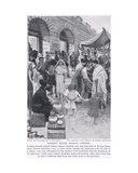 Roman Market Scene, London, Illustration from 'Hutchinson's History of the Nations', c.1910 Giclee Print by Amedee Forestier