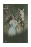 Postcard of German Film Star Henny Porten, Sent in 1913 Giclee Print by  German photographer