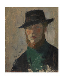 Self Portrait in Black Hat, 1908 Giclee Print by Rik Wouters