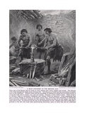 A Busy Foundry in the Bronze Age, Illustration from 'The Story of the British People', c.1950 Giclee Print by Paul Hardy