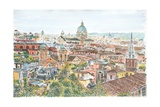 Rome, Overview from the Borghese Gardens, 2013 Giclee Print by Anthony Butera