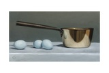 Brass Pan and Blue Eggs, 2011 Giclee Print by James Gillick