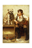 Shoeshine Boy, 1902 Giclee Print by John George Brown