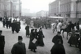 Soldiers Leaving for the Front, St Petersburg, 1917 Photographic Print by  Russian Photographer
