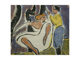 Russian Couple Dancing; Russisches Tanzerpaar, 1909 Giclee Print by Ernst Ludwig Kirchner