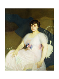 Portrait of Charlotte Parker Milne, 1916 Giclee Print by William McGregor Paxton