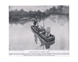 Ancient Britons in Dug-Out Boat, Illustration from 'Hutchinson's History of the Nations', c.1910 Giclee Print by Amedee Forestier