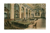 The New Games Room in a Monte Carlo Casino. Postcard Sent in 1913 Giclee Print by French Photographer