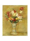 Tulipes, 1909 Reproduction procédé giclée par Pierre Auguste Renoir
