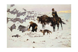 The Frozen Sheepherder, 1900 Giclee Print by Frederic Sackrider Remington