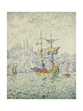 The Port of Constantinople; Le Port de Constantinople, 1907 Giclee Print by Paul Signac