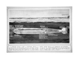 The Whitehead Torpedo, from the Illustrated War News, 17th February 1915 Giclee Print by  English School