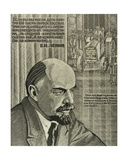 """Stalingrad Tractor Factory and Lenin. """"If We by Tomorrow Could Produce 100.000 First-Class… Giclee Print by Masabikh Akhunov"""